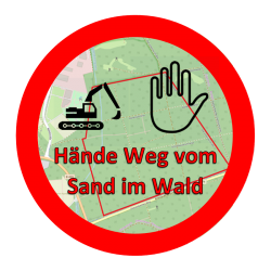 Hände Weg vom Sand im Wald