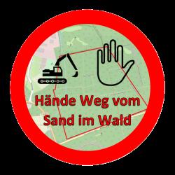 Hände Weg vom Sand im Wald